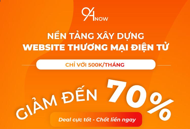 Cùng Vượt Bão – Nhận Ưu Đãi Website Thương Mại Điện Tử cùng 94Now